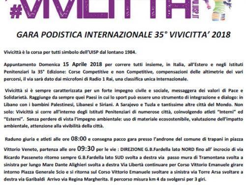 Gara Podistica Internazionale 35° VIVICITTA' 2018