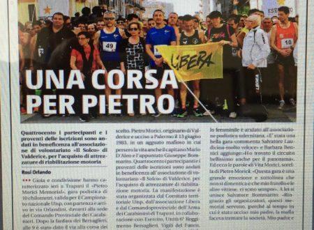 Articolo di stampa – Pietro Morici Memorial 2018