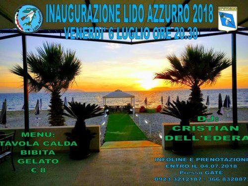 """Inaugurazione del """"Lido Azzurro 2018"""""""