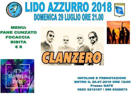 Clan Zero al Lido Azzurro 29 Luglio 18
