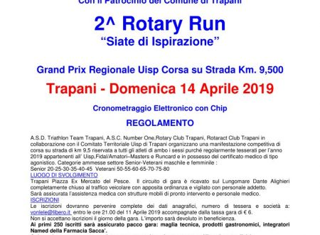 2^ Rotary Run – Domenica 14 Aprile 2019