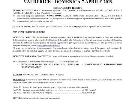 I° CROSS FONDO AUTERI    VALDERICE – DOMENICA 7 APRILE 2019