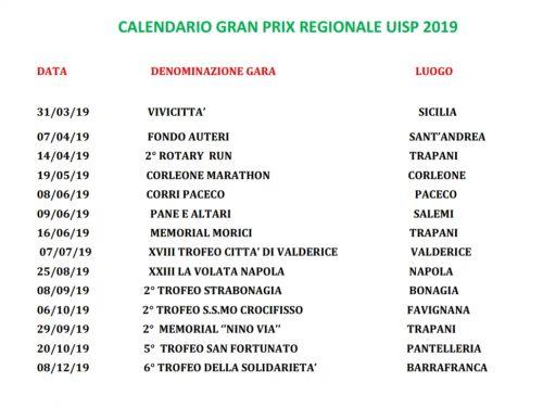Calendario Gran Prix Regionale UISP 2019