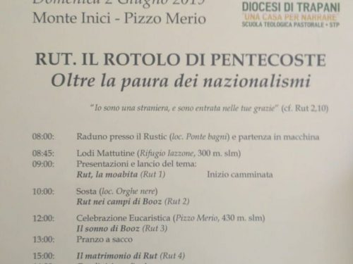 Trekking Biblico – Domenica 02/06/2019 – Monte Inici /Pizzo Merio