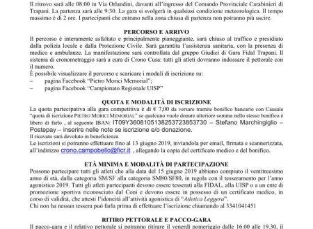 Regolamento Memorial Pietro Morici 2019