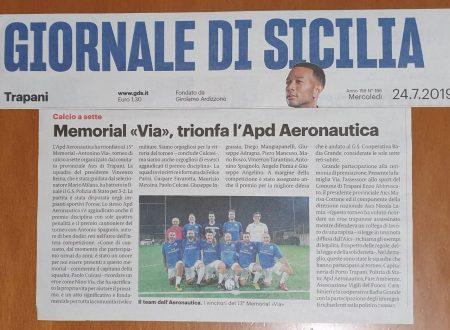 "Memorial ""VIA"", trionfa l'Apd Aeronautica"