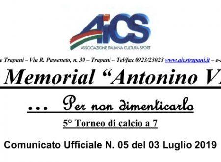 Memorial N. Via – C.U. nr. 5 – Risultati