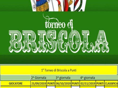 1° Torneo di Briscola – Risultati del 02.11.19
