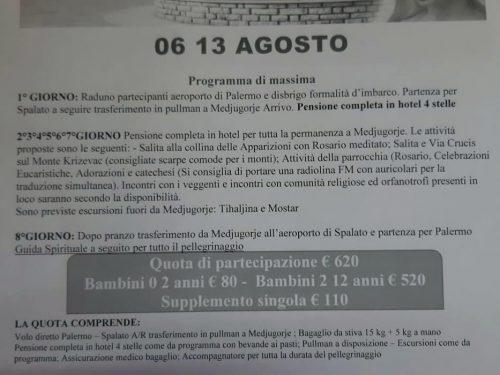Pellegrinaggio a Medjugorje 6/13 Agosto 2020