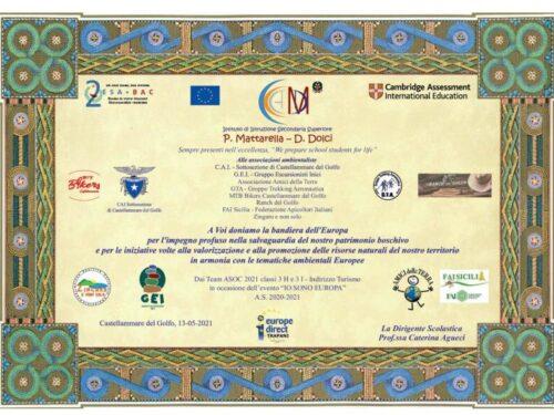 Attestato 2021 al Gruppo Trekking AERONAUTICA